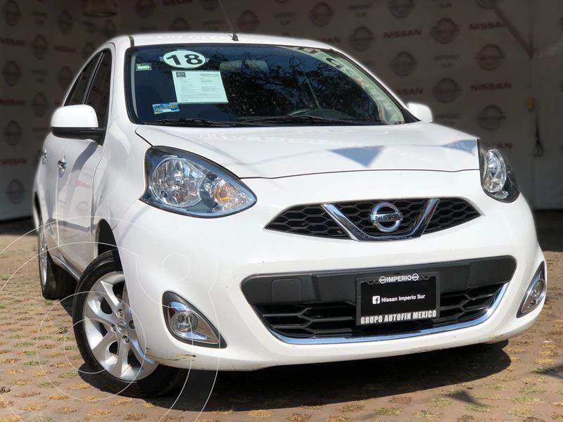 Nissan March Advance Aut usado (2018) color Blanco precio $155,000