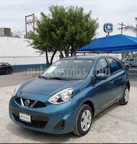 Nissan March Sense Aut usado (2018) color Azul precio $155,000