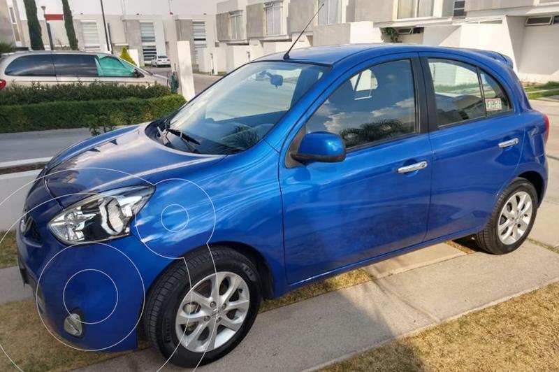 Nissan March Advance usado (2016) color Azul Electrico precio $120,000