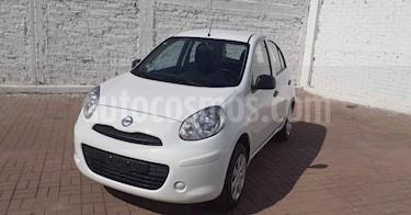 Nissan March 5p Active L4/1.6 Man A/A usado (2019) color Blanco precio $124,900