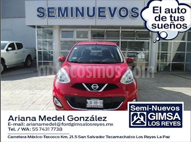 Nissan March Advance usado (2019) color Rojo precio $175,000