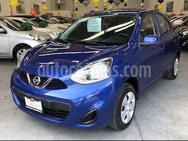 Foto Nissan March Sense usado (2018) color Azul Electrico precio $159,000