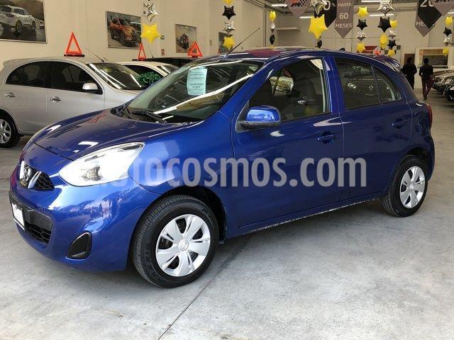 Nissan March Sense usado (2018) color Azul Electrico precio $149,000