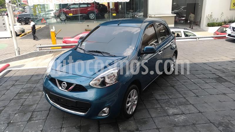 Nissan March Advance NAVI Aut usado (2018) color Azul precio $195,000