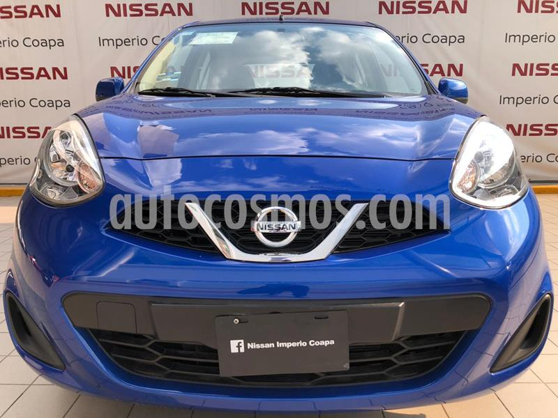 Nissan March Sense usado (2019) color Azul Electrico precio $179,000