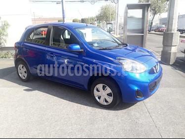 Nissan March Sense usado (2018) color Azul Electrico precio $158,000