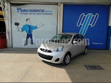 Nissan March 5p Sense L4/1.6 Aut usado (2018) color Plata precio $102,000