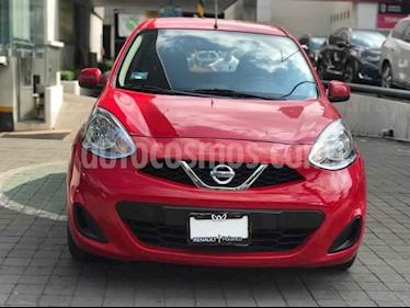 Nissan March 5p Sense L4/1.6 Man usado (2018) color Rojo precio $145,000