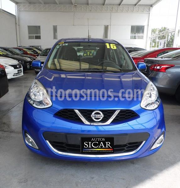 Nissan March Advance Aut usado (2016) color Azul precio $137,000
