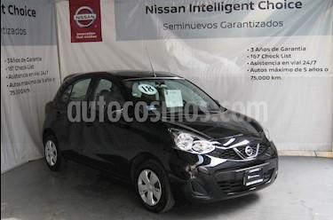 Nissan March Sense  Aut usado (2018) color Negro precio $168,000