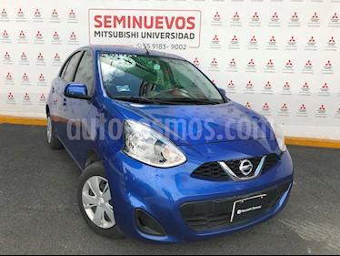 Nissan March Sense  Aut usado (2018) color Azul Electrico precio $160,000