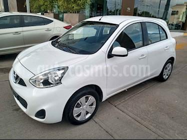 Nissan March 5p Sense L4/1.6 Aut usado (2018) color Blanco precio $168,000