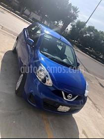 Nissan March Sense usado (2018) color Azul Electrico precio $134,000
