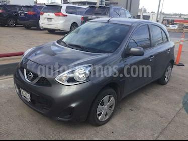Nissan March 5p Sense L4/1.6 Aut usado (2018) color Gris precio $155,000