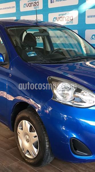 Nissan March Sense Aut usado (2015) color Azul Claro precio $120,000