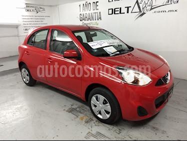 Nissan March Sense usado (2018) color Rojo precio $149,000