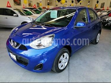 Nissan March Sense usado (2018) color Azul Electrico precio $160,000
