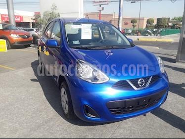 Nissan March Sense usado (2018) color Azul Electrico precio $140,000