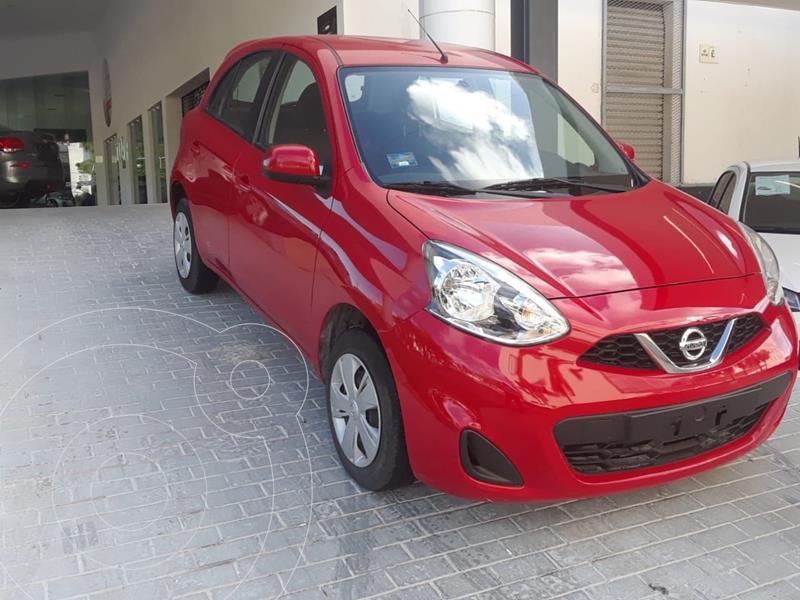 Nissan March Sense Aut usado (2018) color Rojo precio $150,000