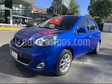 Nissan March 5p Advance L4/1.6 Aut usado (2015) color Azul precio $127,000