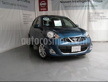 Nissan March Advance Aut usado (2018) color Turquesa precio $180,000