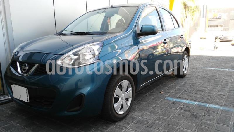 Nissan March 5P SENSE L4/1.6 MAN usado (2018) color Azul Marino precio $150,000