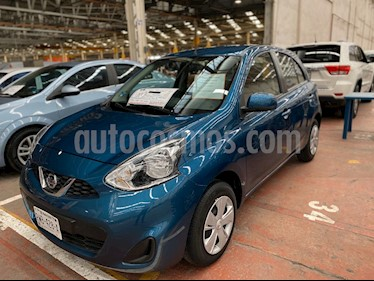 Nissan March Advance Aut usado (2018) color Celeste precio $167,000