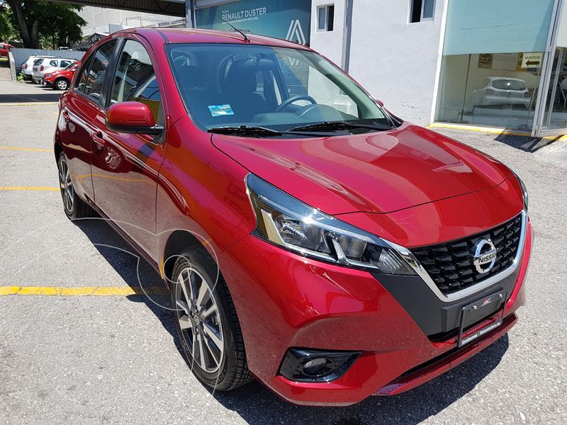 Foto Nissan March 5 pts. HB Exclusive, TM5, a/ac. Aut., VE, BA, AB usado (2021) color Rojo precio $273,000