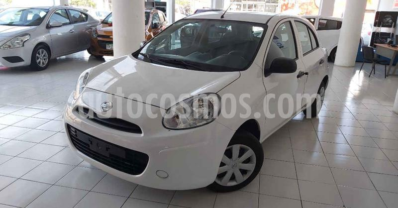 Nissan March 5p Active L4/1.6 Man A/A usado (2019) color Blanco precio $124,900