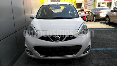 Nissan March 5P ADVANCE L4/1.6 MAN usado (2018) color Blanco precio $158,000