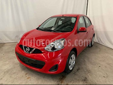 Nissan March 5p Sense L4/1.6 Aut usado (2018) color Rojo precio $139,900