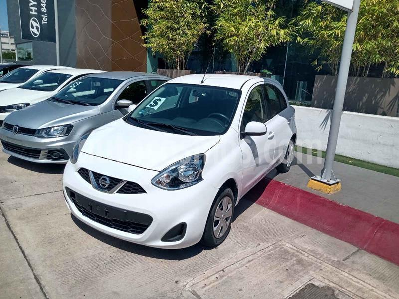 Nissan March Sense Aut usado (2018) color Blanco precio $145,000