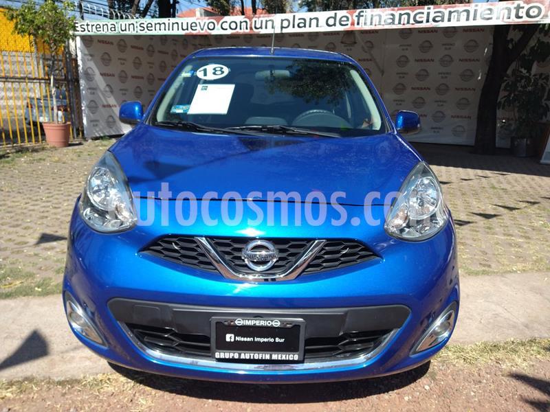 Nissan March Advance usado (2018) color Azul Electrico precio $170,000