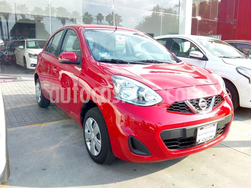 Nissan March Sense usado (2019) color Rojo precio $185,000
