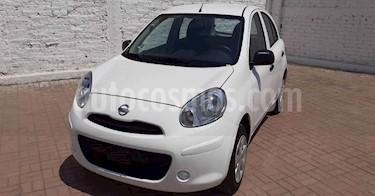 Nissan March 5p Active L4/1.6 Man A/A usado (2019) color Blanco precio $129,800