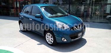 Nissan March 5p Advance L4/1.6 Man usado (2016) color Azul precio $144,500