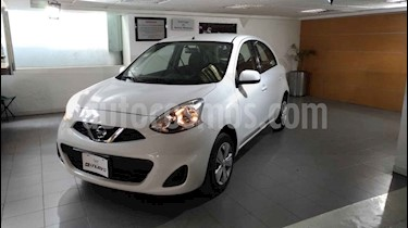 Nissan March 5p Sense L4/1.6 Man usado (2015) color Blanco precio $129,100