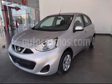 Nissan March Sense Aut usado (2018) color Plata precio $152,000