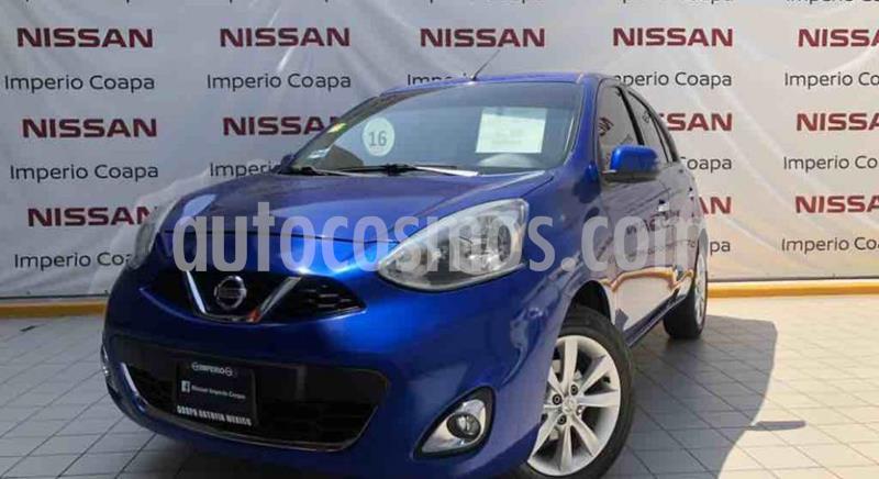 Nissan March Advance usado (2015) color Azul Electrico precio $140,000