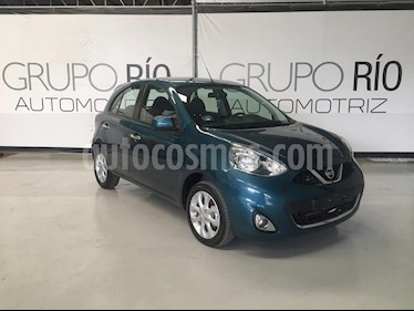 Nissan March Advance Aut usado (2018) color Azul Electrico precio $179,000