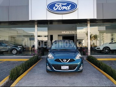 Nissan March SR NAVI TM usado (2017) color Azul Electrico precio $154,000