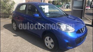Nissan March Sense usado (2018) color Azul Electrico precio $150,000