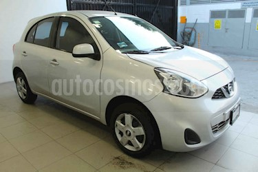 Nissan March 5p Sense L4/1.6 Man usado (2015) color Plata precio $129,000
