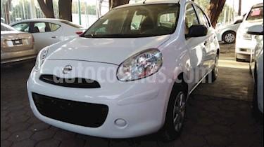 Nissan March 5p Active L4/1.6 Man A/A usado (2019) color Blanco precio $129,900
