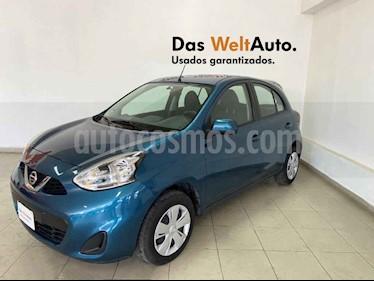 Nissan March 5p Sense L4/1.6 Aut usado (2018) color Azul precio $147,995