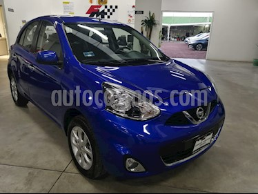 Nissan March Advance NAVI Aut usado (2017) color Azul Electrico precio $185,000