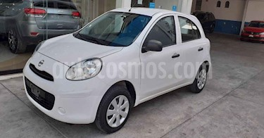 Nissan March 5p Active L4/1.6 Man A/A usado (2019) color Blanco precio $134,500