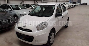 Nissan March 5p Active L4/1.6 Man A/A usado (2019) color Blanco precio $139,800