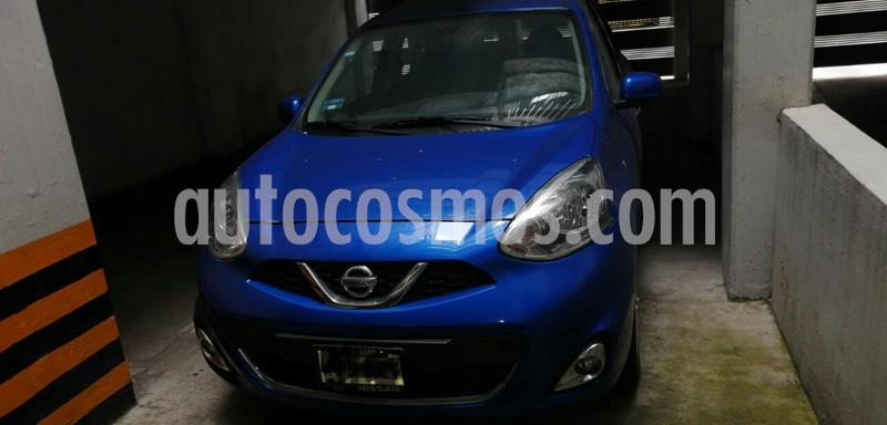 Nissan March Advance usado (2016) color Azul Electrico precio $138,000