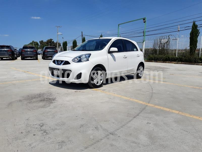 Nissan March Sense Aut usado (2017) color Blanco precio $140,000